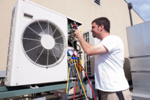 technician working on AC