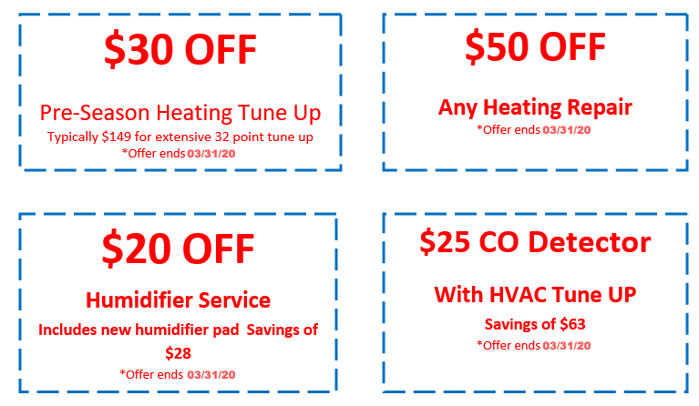 Triple-T Heating and Cooling HVAC Coupons